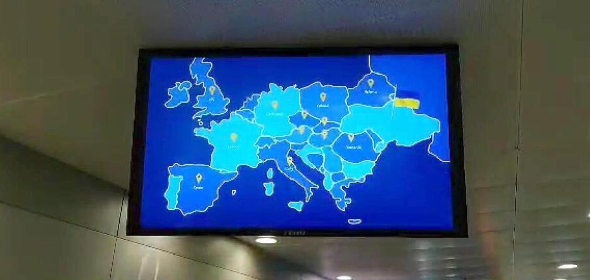 Скандал із картою України в 'Борисполі': названа причина 'зникнення' Криму