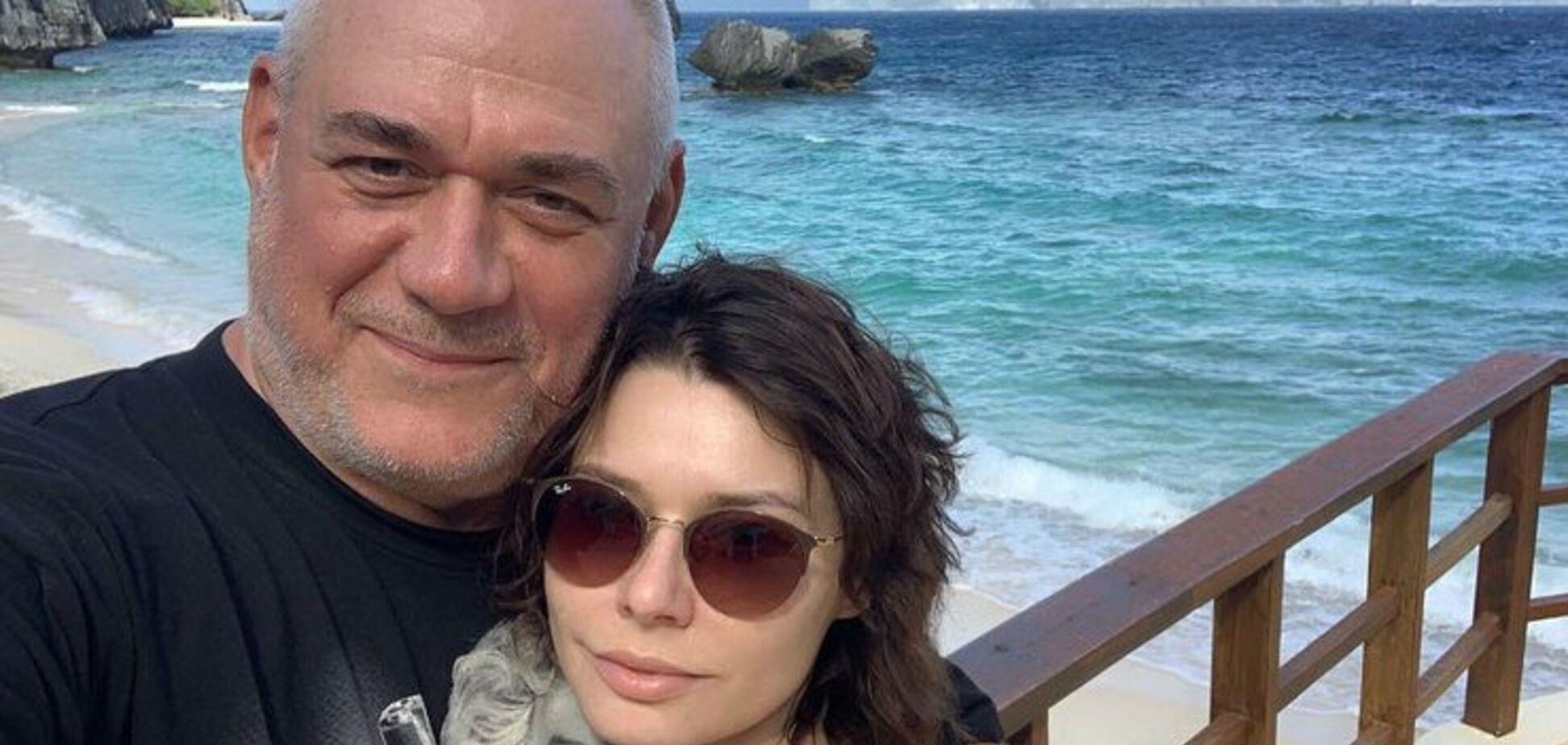 Сергей Доренко со второй женой Юлией