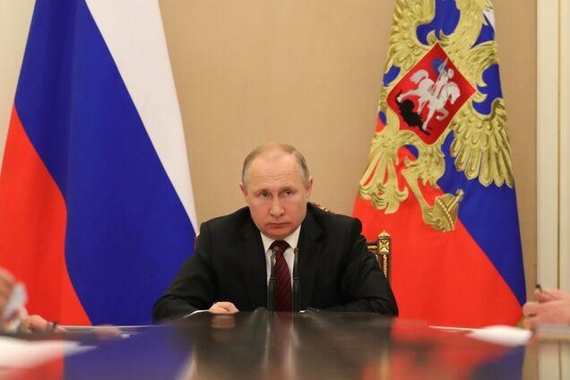 Путин, кабинет, совещание, флаг РФ