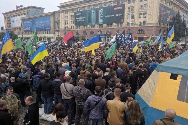 Митинг против сноса палатки. Харьков, 12 мая