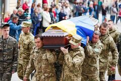 Поховання загиблого на Донбасі бійця 72 ОМБр Тараса Шевченка, Івано-Франківськ, 28 травня 2 2015 року