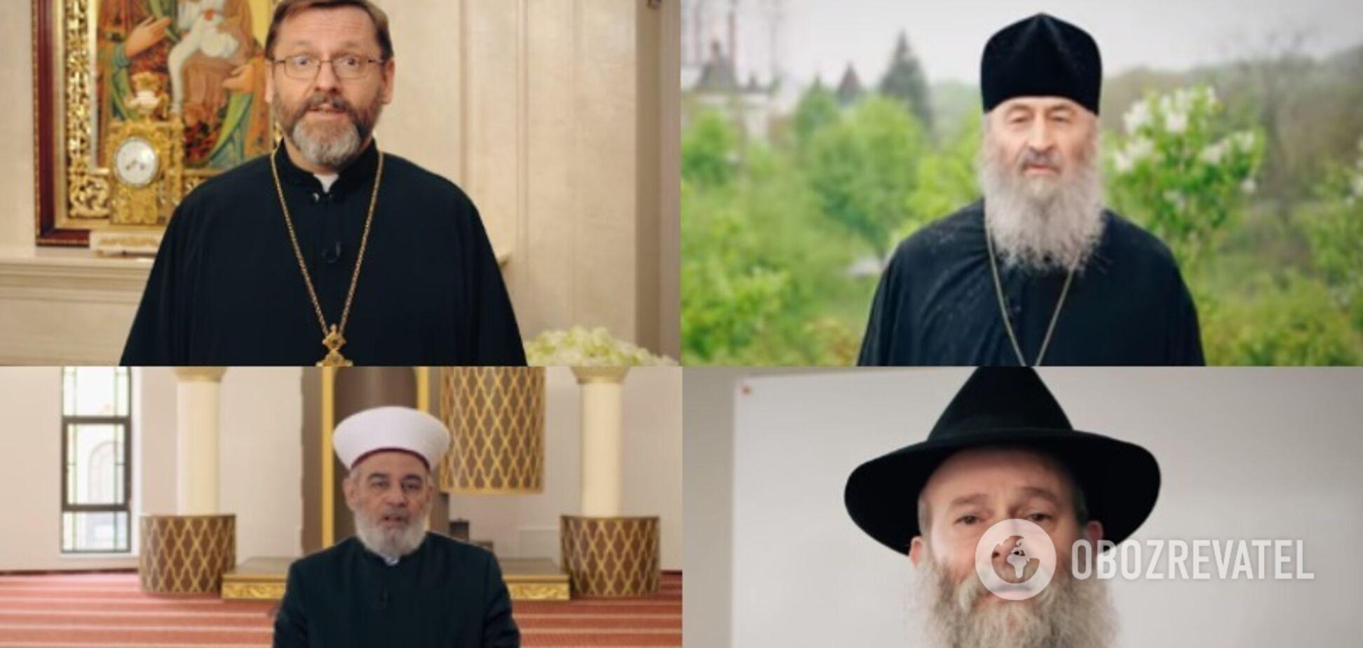 Филарет, Онуфрий, но без Епифания: Зеленский показал религиозное послание украинцам