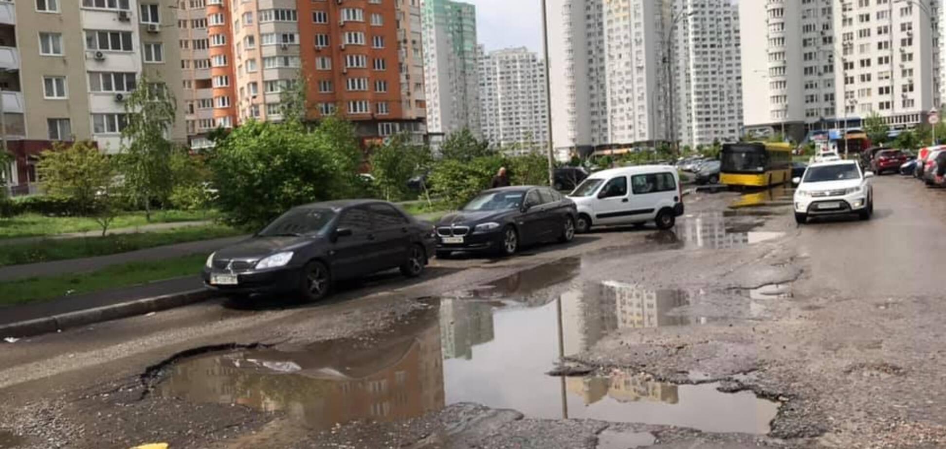 В Киеве новое ЧП на 'проклятой дороге': видео