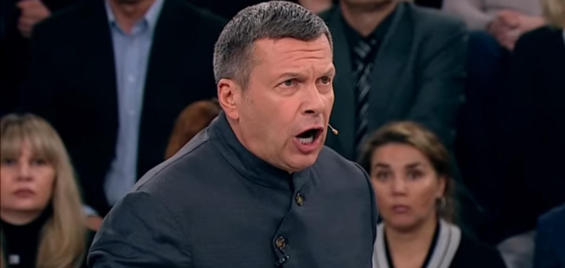 'Нацистська сволота!' Соловйов з істерикою вигнав українця з ефіру через Бандеру