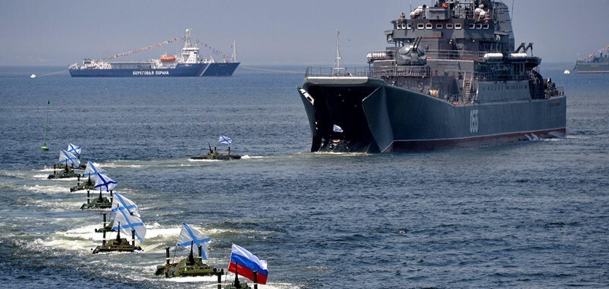 Военно-морской флот России ушел с поля боя