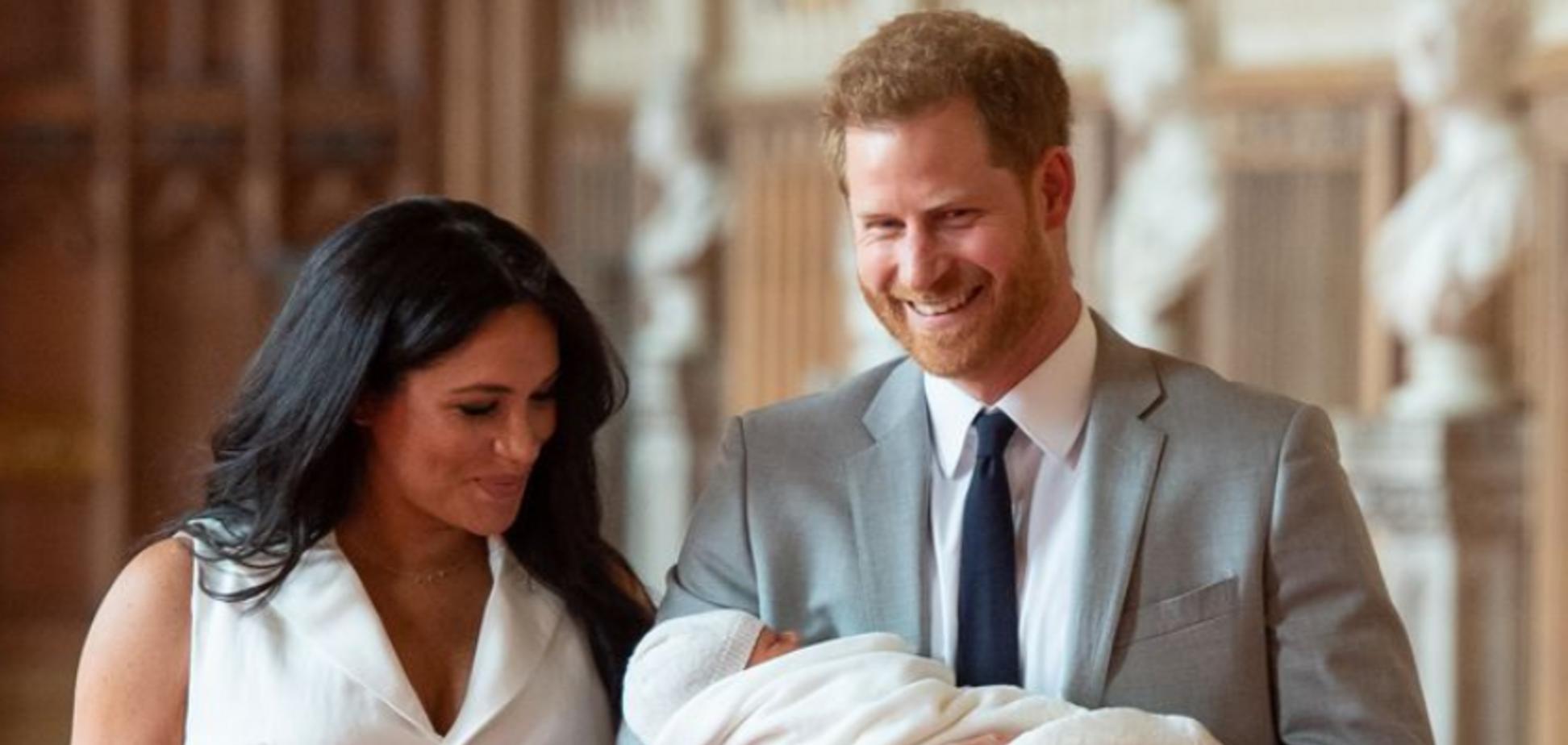Принц Гарри и Меган Маркл с ребенком