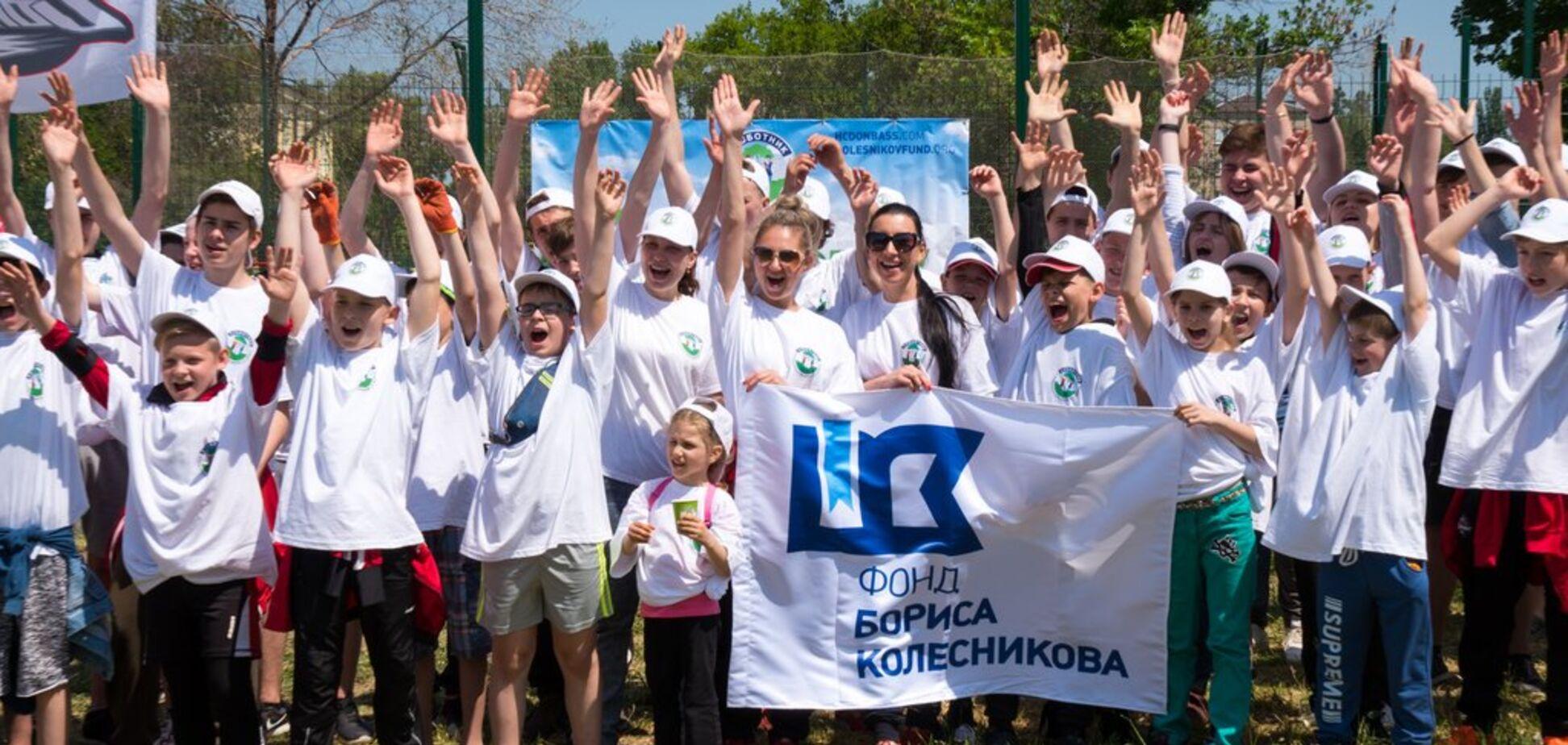 В День Европы Фонд Бориса Колесникова и ХК 'Донбасс' провели благотворительные субботники