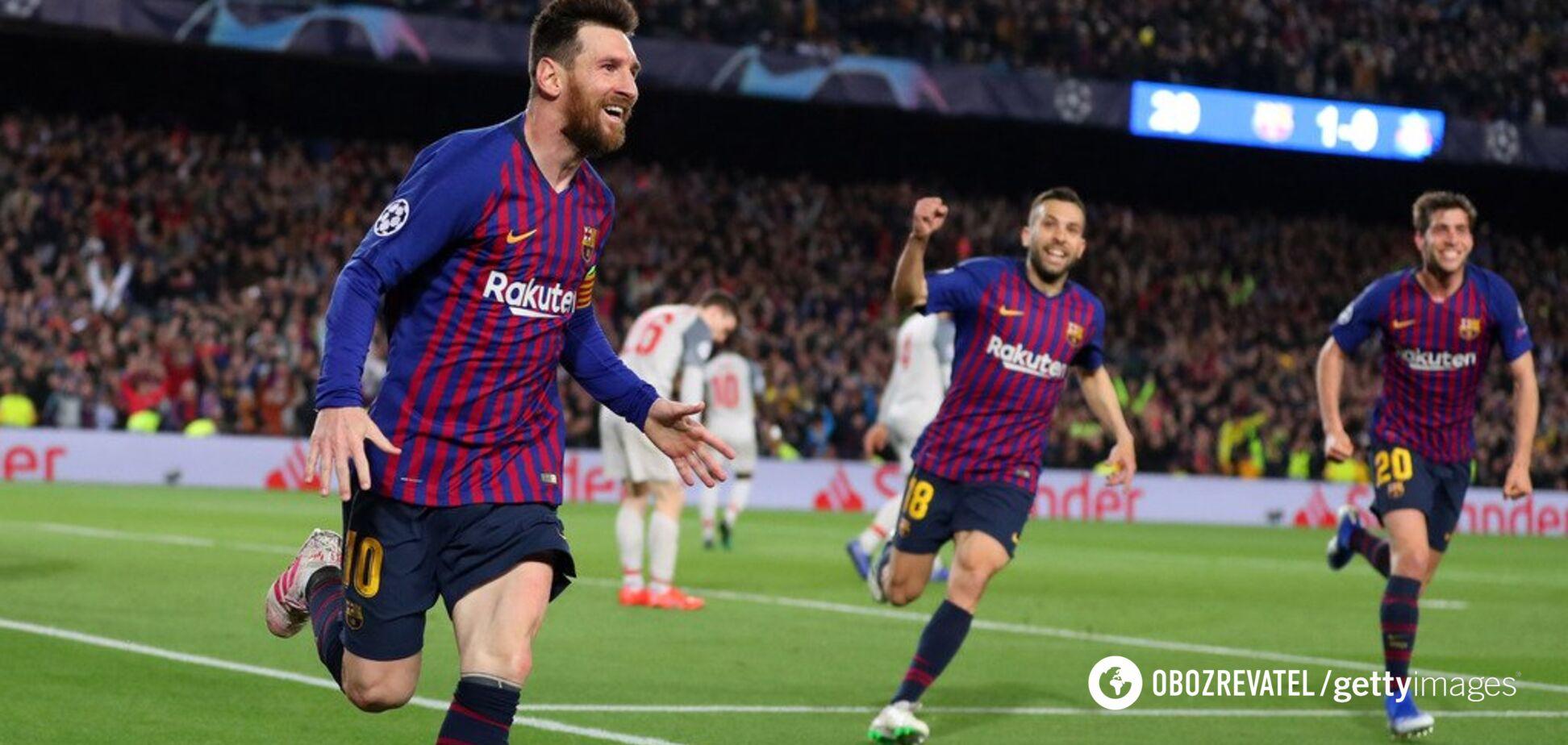 Лига чемпионов: фантастический Месси помог 'Барселоне' разгромить 'Ливерпуль'