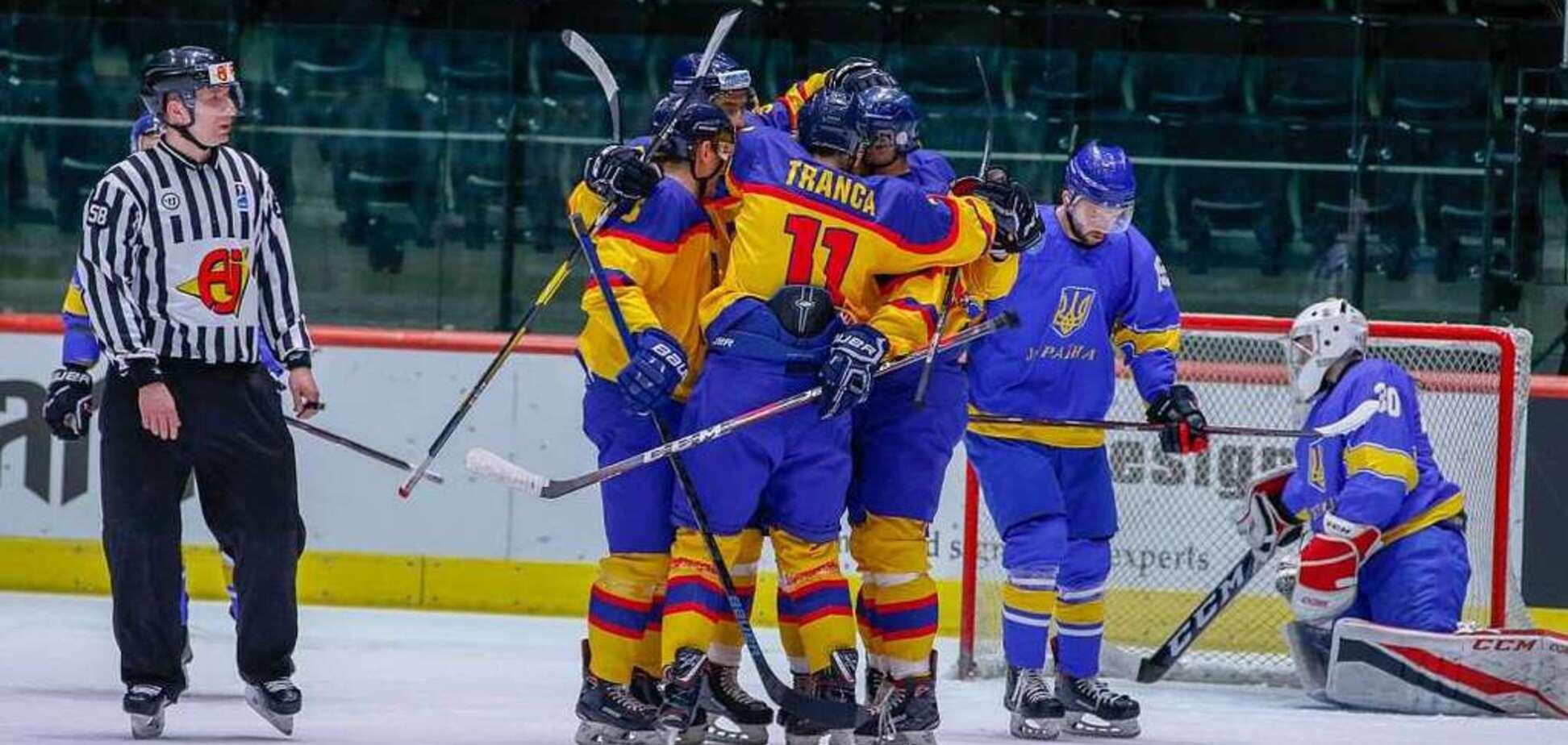 Сборная Украины потерпела историческое поражение на ЧМ по хоккею