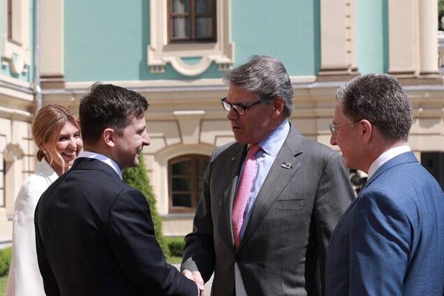Делегация США с Владимиром Зеленским