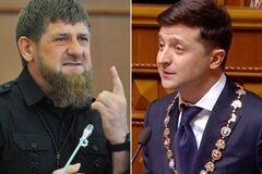 Рамзан Кадиров і Володимир Зеленський