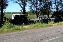 Разведка террористов перед нападением на блокпост под Волновахой