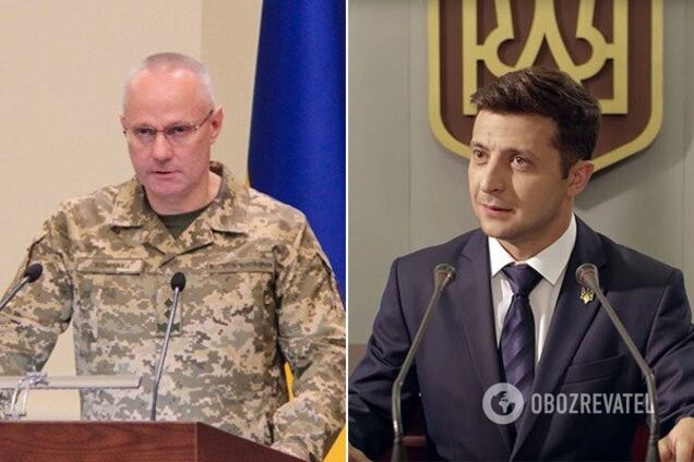 Руслан Хомчак і Володимир Зеленський