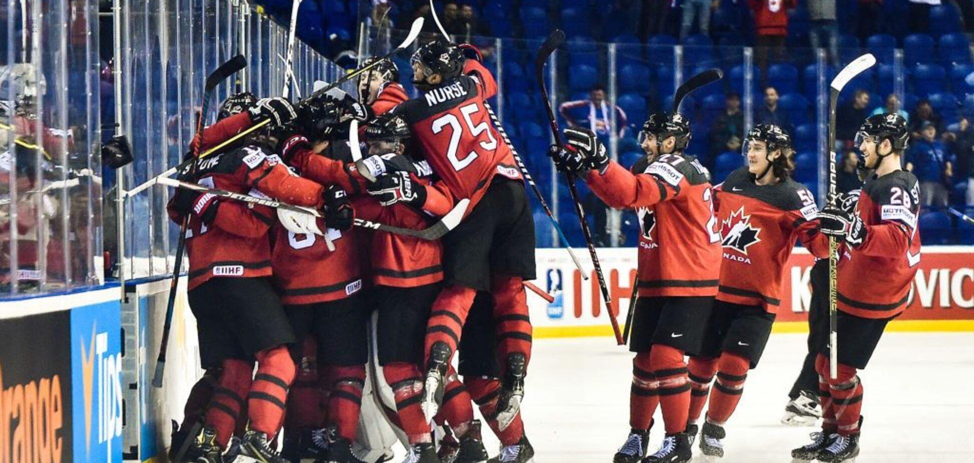 Канада фантастичним способом пробилася в 1/2 фіналу ЧС із хокею