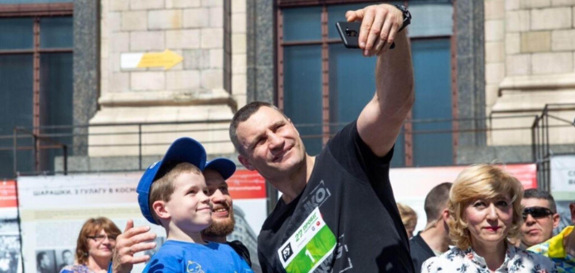 Кличко присоединился к благотворительному 'Пробегу под каштанами'