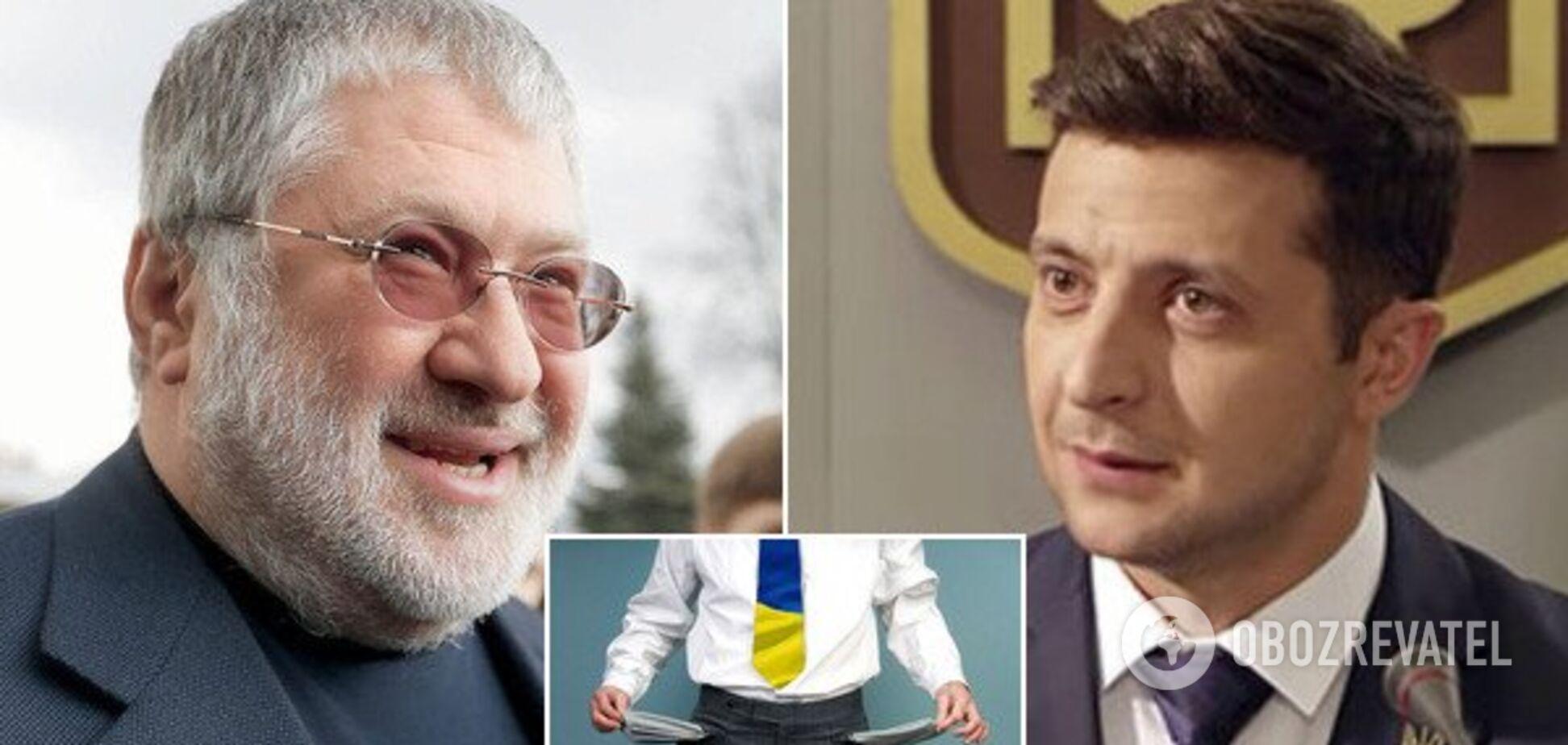 Оголосити дефолт в Україні: Зеленський відповів на скандальний заклик Коломойського