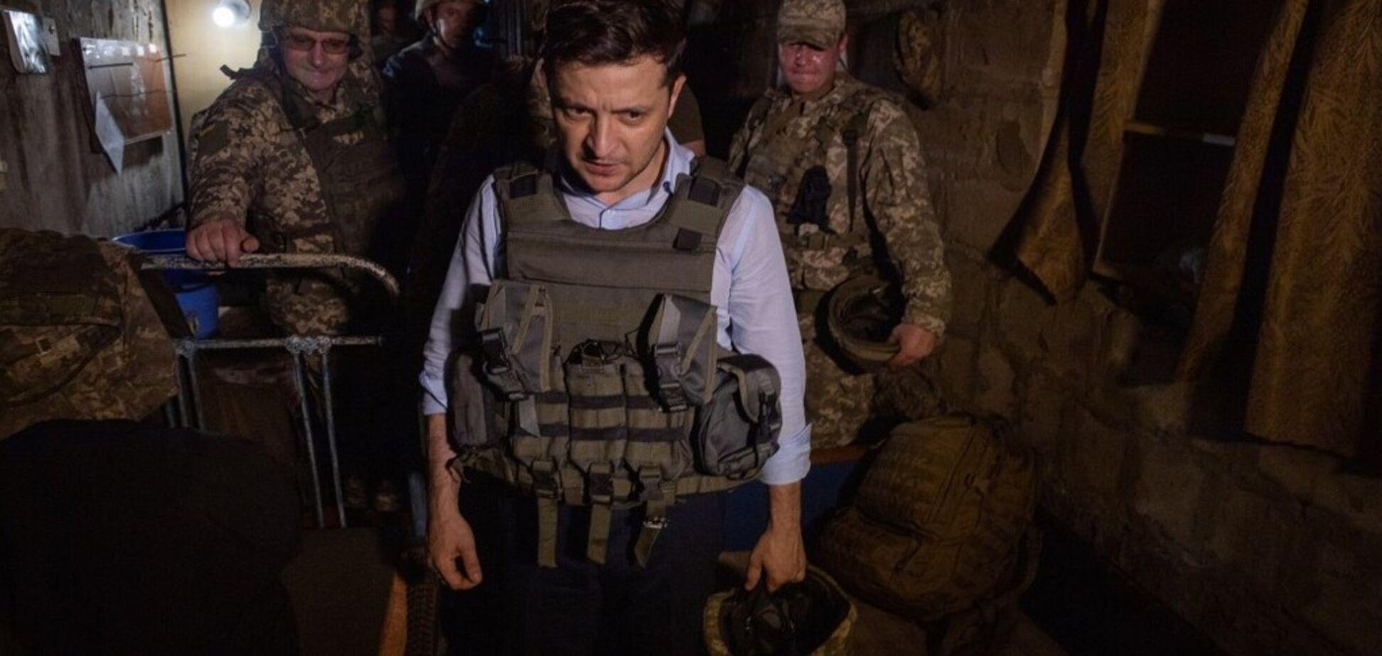 Зеленский съездил к бойцам ВСУ на Донбасс: фоторепортаж с передовой