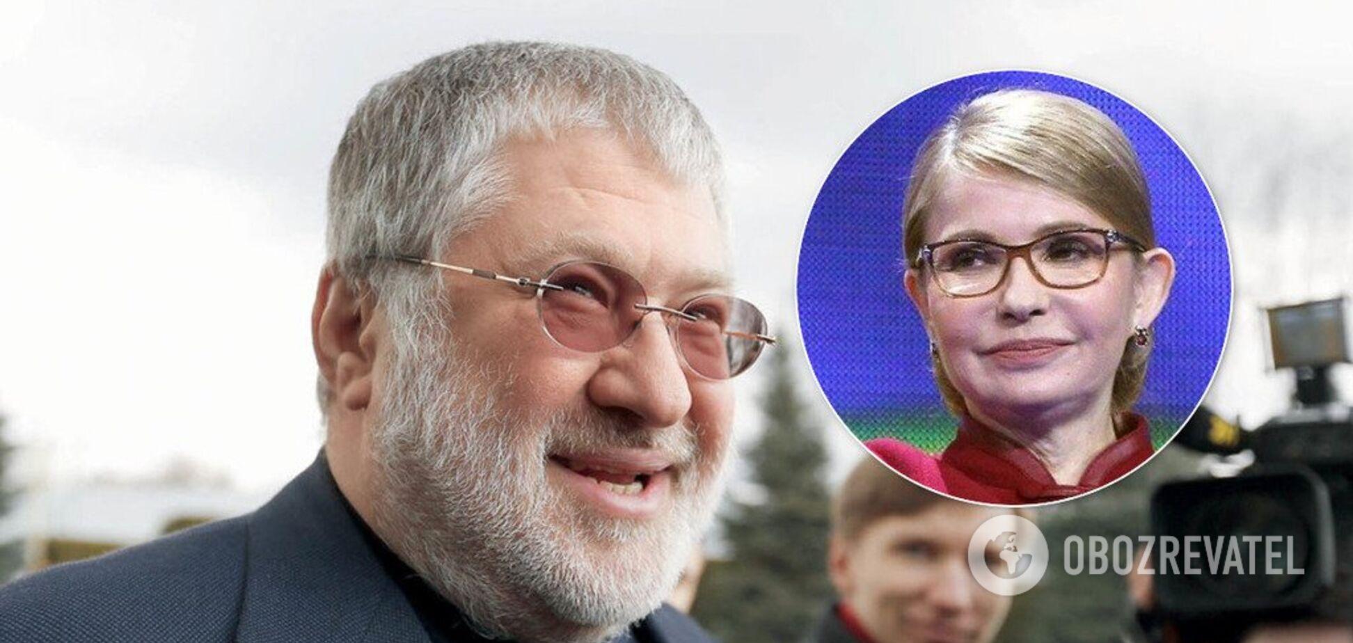 'Мы друзья!' Коломойский заявил о поддержке Тимошенко на выборах в Раду