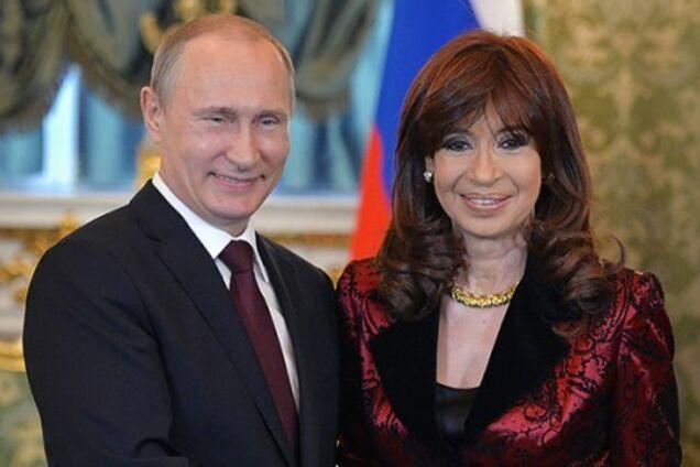 Владимир Путин и Кристина Киршнер