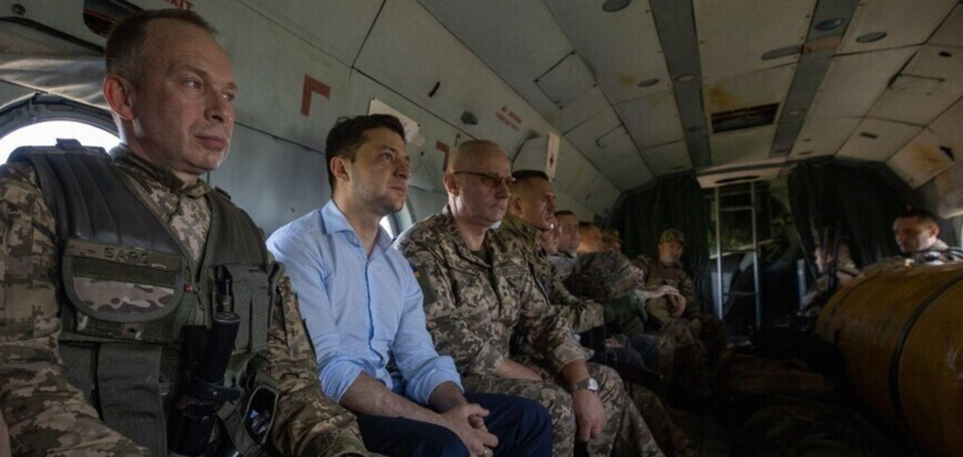 Визит президента на Донбасс