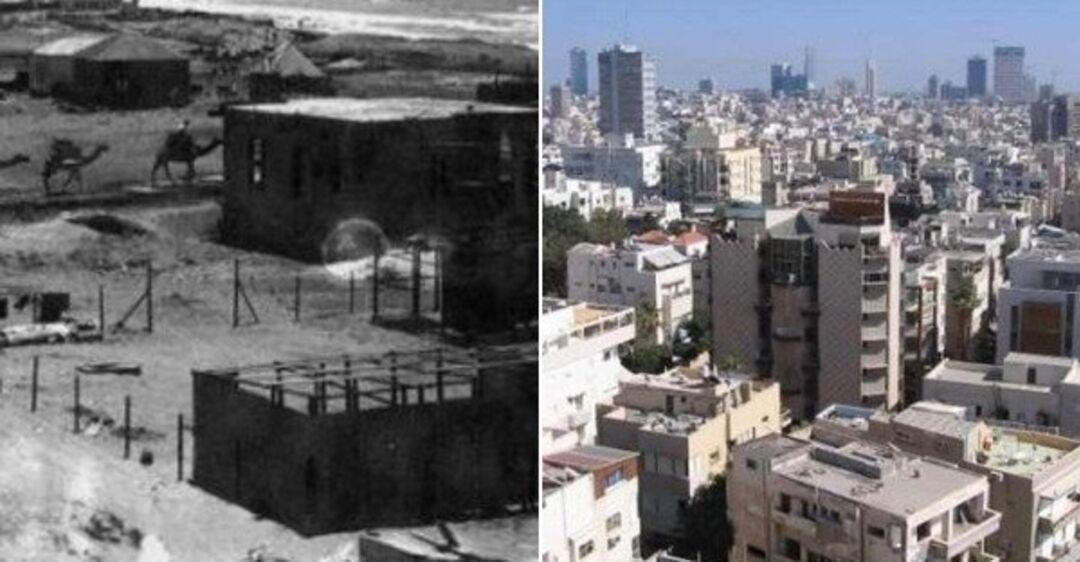 Израиль 100 лет назад и сейчас: опубликованы уникальные фото