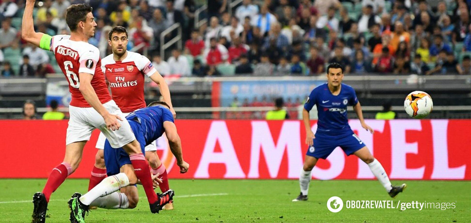 4 гола за 22 минуты: 'Челси' уничтожил 'Арсенал' в финале Лиги Европы