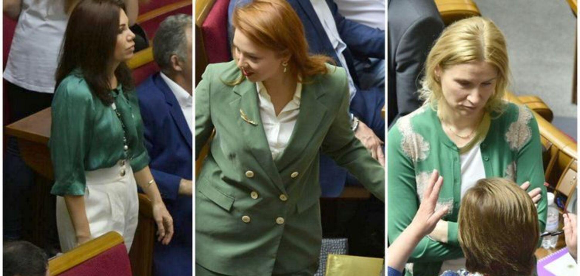 'Позеленело': СМИ заметили в Раде забавный тренд