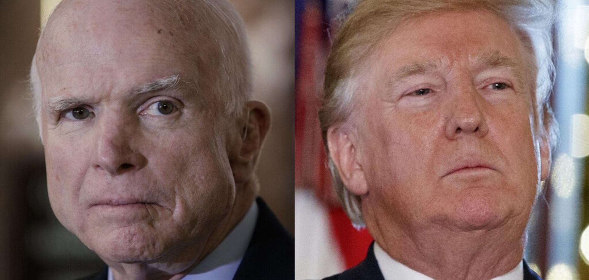 Трамп потрапив у скандал через покійного Маккейна: що трапилося