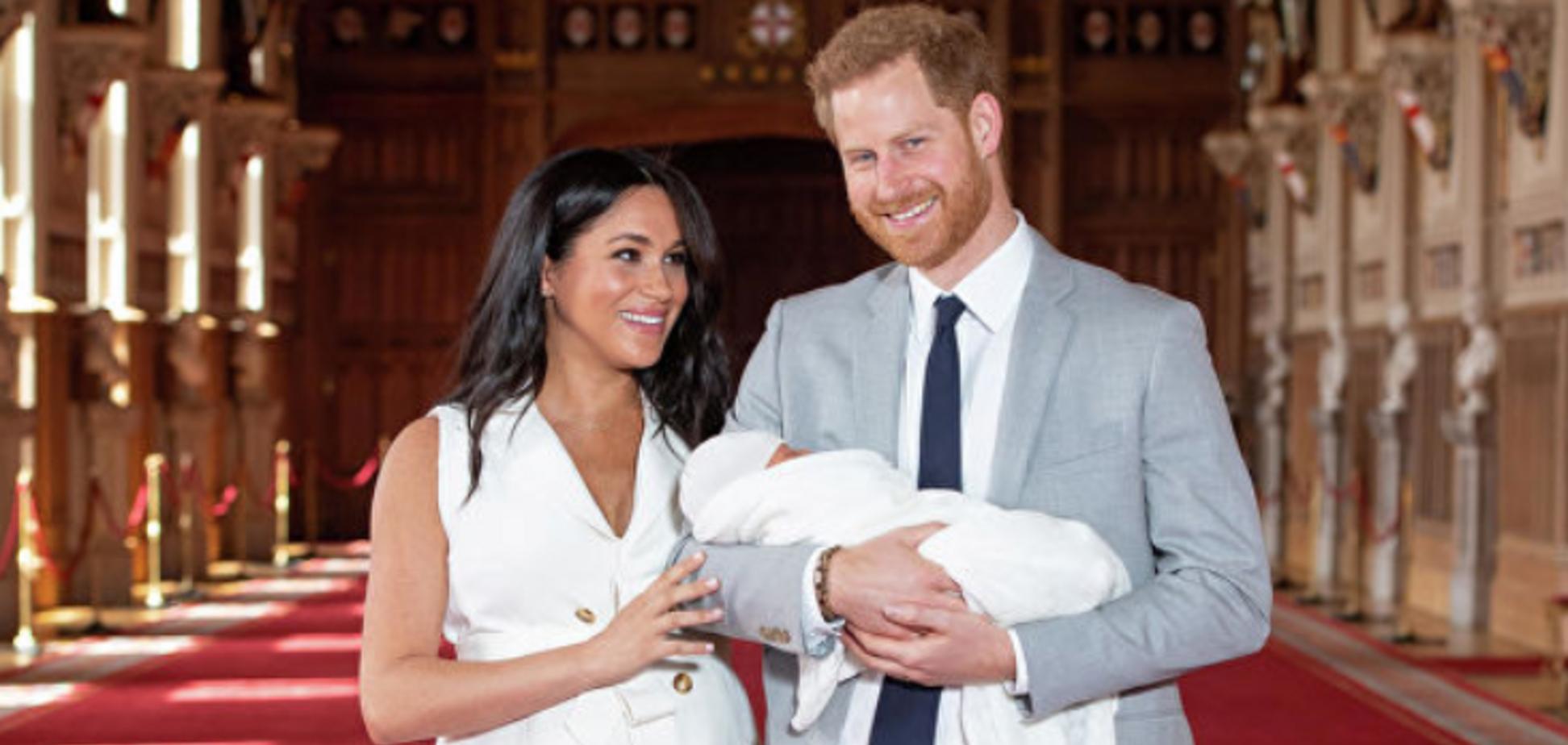 Меган Маркл и принц Гарри с ребенком