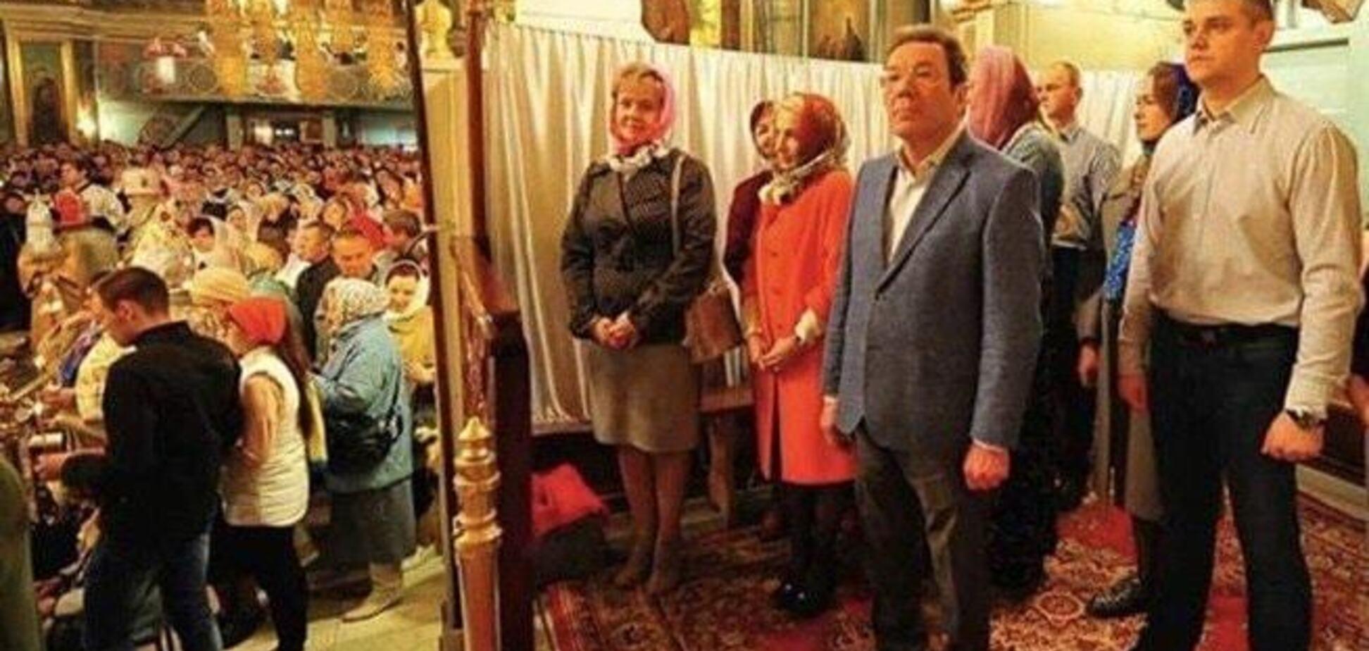 Российские чиновники в церкви