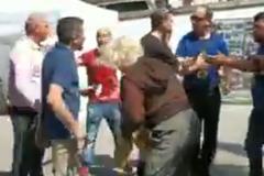 В Португалии 'Бессмертный полк' напал на украинцев с битами: видео конфликта