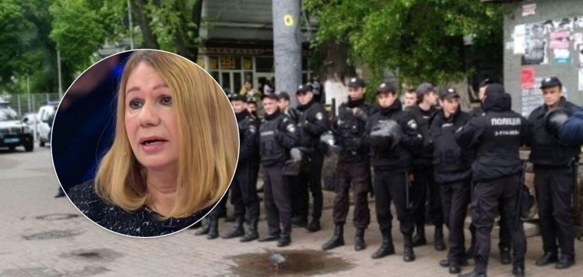 День перемоги в Києві: поліція затримала скандальну матір загиблої екс-регіоналки Бережної
