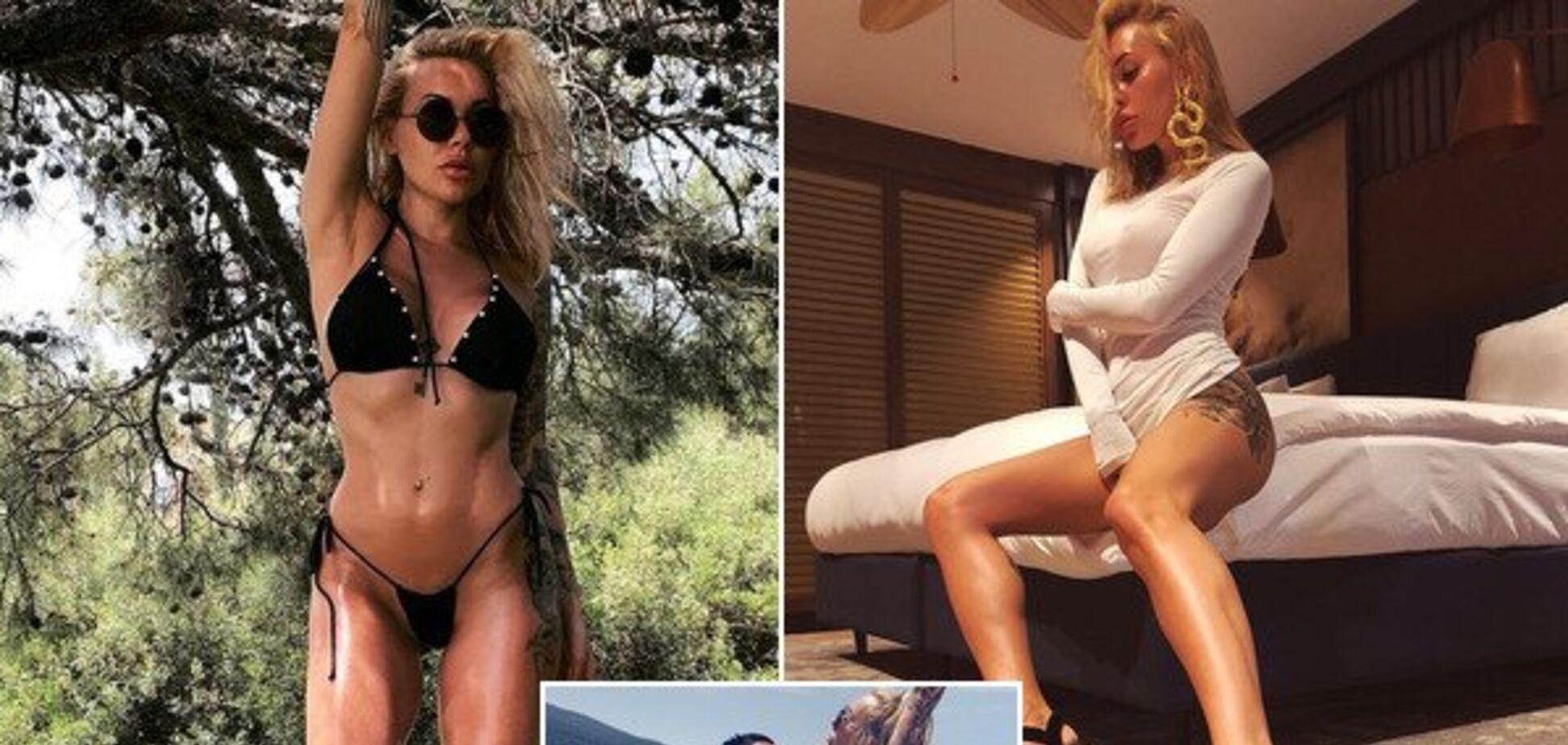 Силиконовая грудь жены экс-капитана 'Динамо' выпала на пляже из купальника: фотофакт