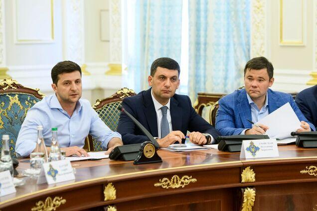 Владимир Зеленский, Владимир Гройсман и Андрей Богдан