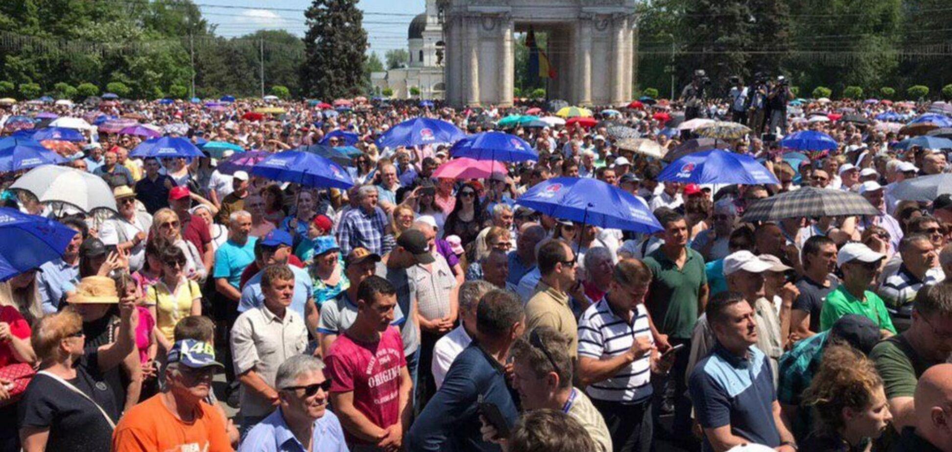 Протесты в Кишиневе. Источник: Publika.md
