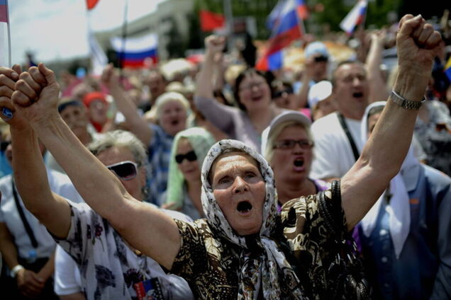 Жителі окупованого Донбасу, ілюстрація