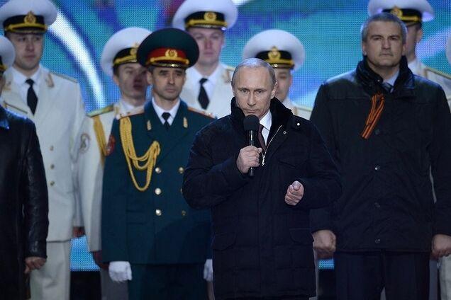 Владимир Путин на митинге в поддержку аннексии Крыма