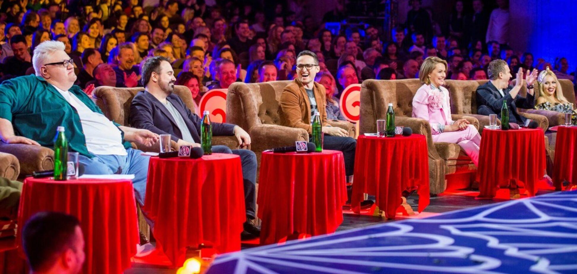 Сергій Сивохо на 'Лізі сміху' (крайній зліва)
