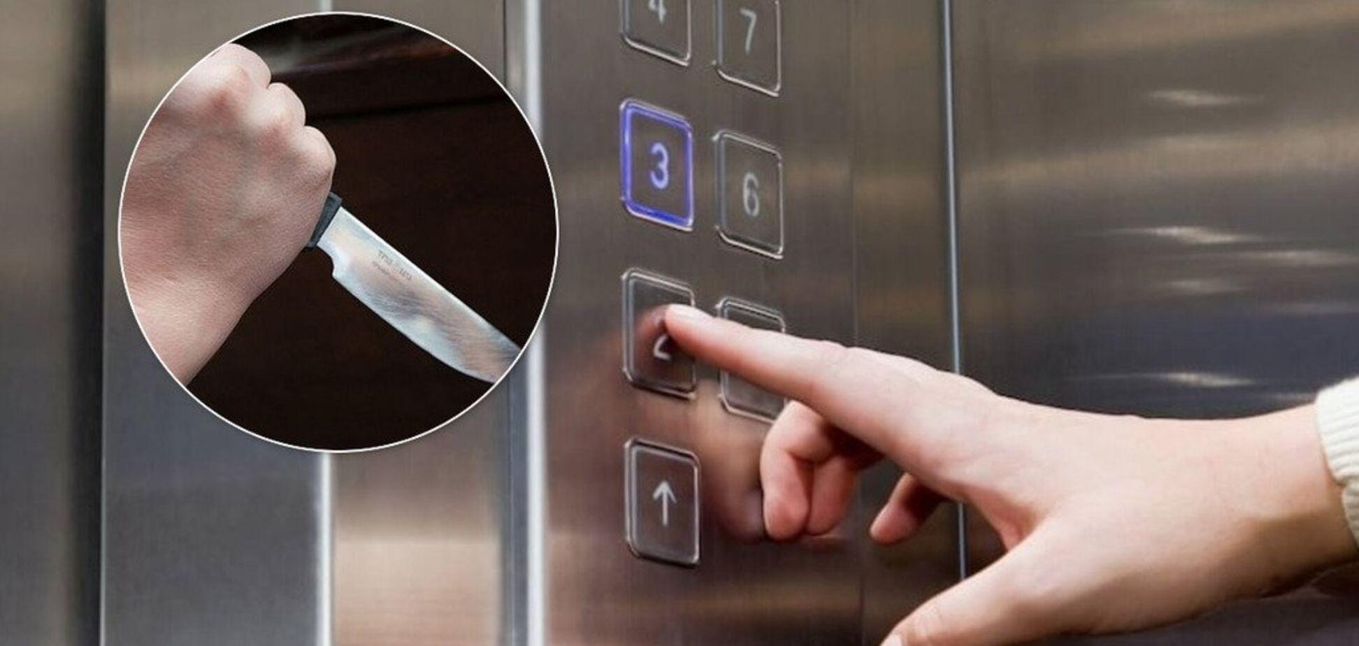 нападение в лифте