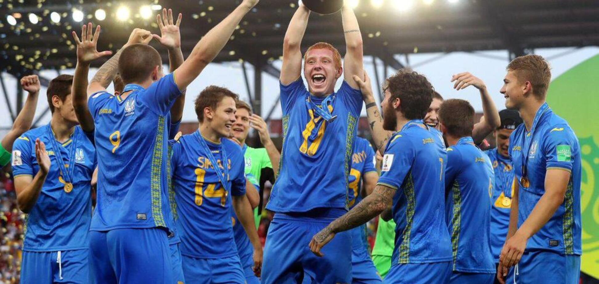 Триумф Украины! Появилось видео награждения за выигранный чемпионат мира по футболу U-20