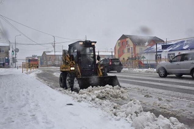 Сніг у Росії