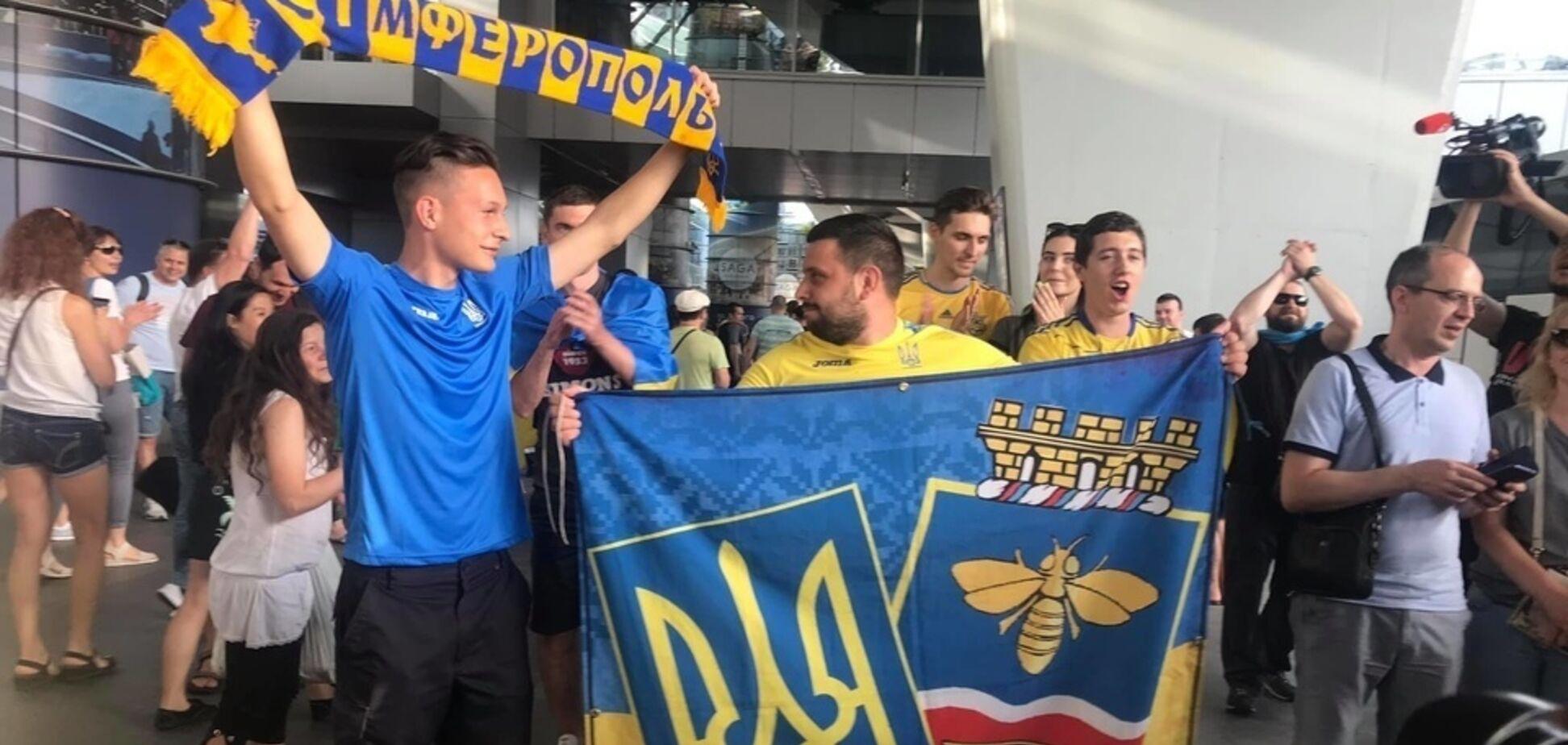 Сборной Украины U-20 устроили фантастический прием в Борисполе