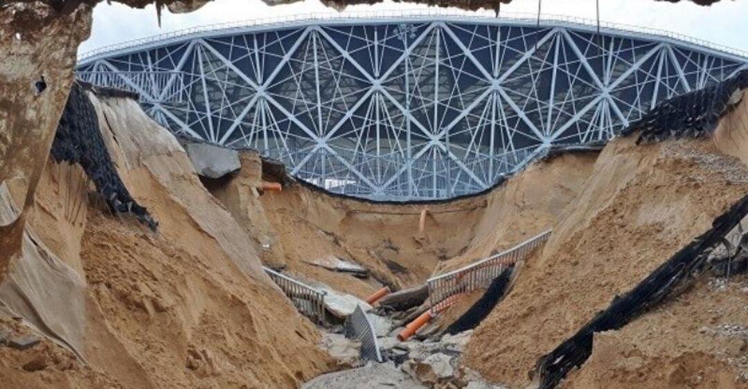 У Росії стадіон ЧС-2018 за 19 млрд. змило дощем (відео)