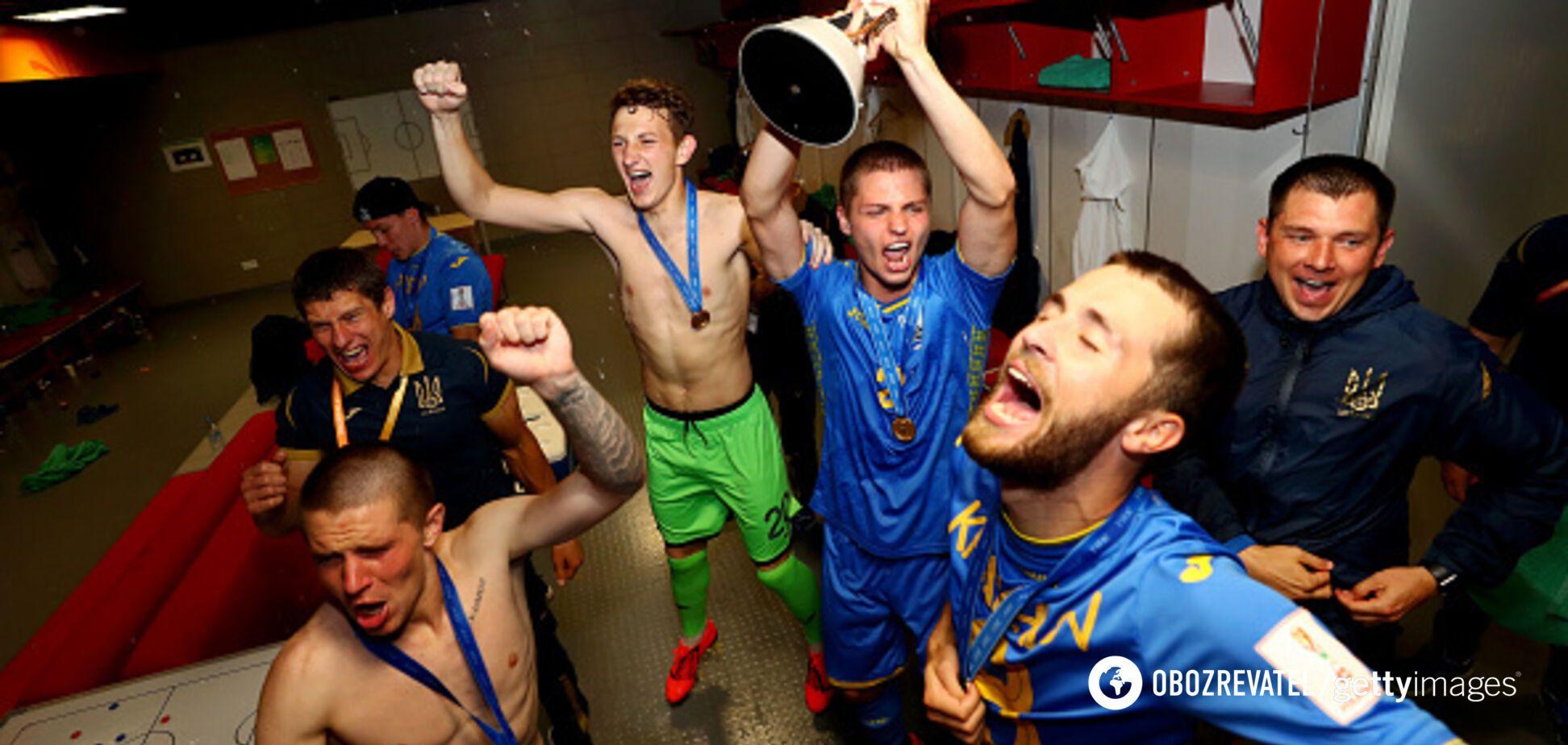 ФФУ показала, что творилось в раздевалке после победы Украины на ЧМ U-20