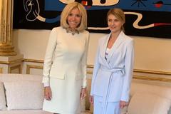 Бріджит Макрон і Олена Зеленська
