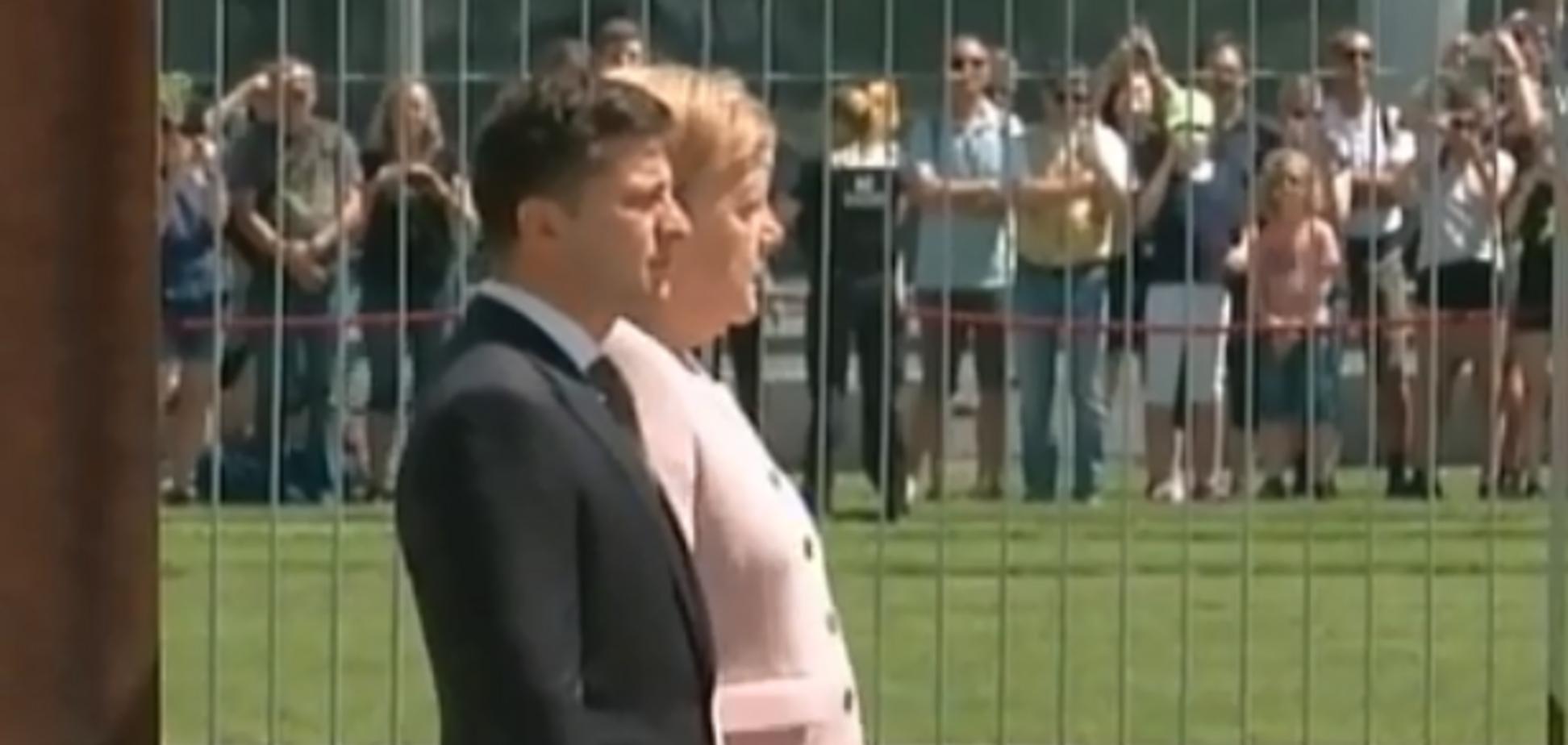 Меркель затрясло рядом с Зеленским: момент попал на видео