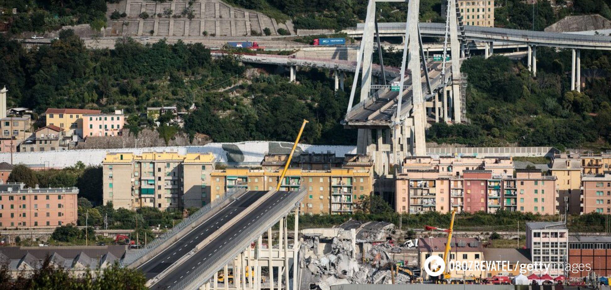 Обвалення мосту в Генуї: поліція Італії провела гучні арешти