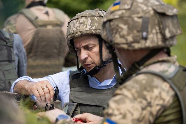 Владимир Зеленский в зоне проведения ООС