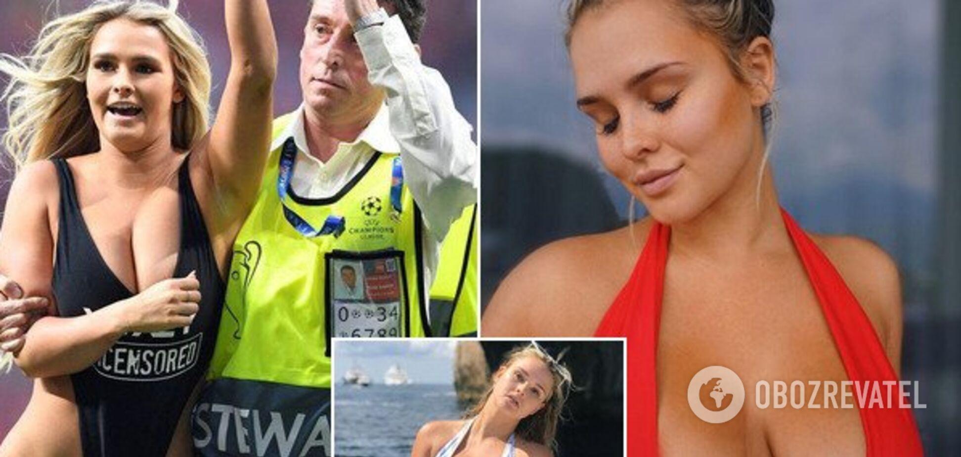 В сети нашли откровенные фото модели, выбежавшей раздетой на финале Лиги чемпионов