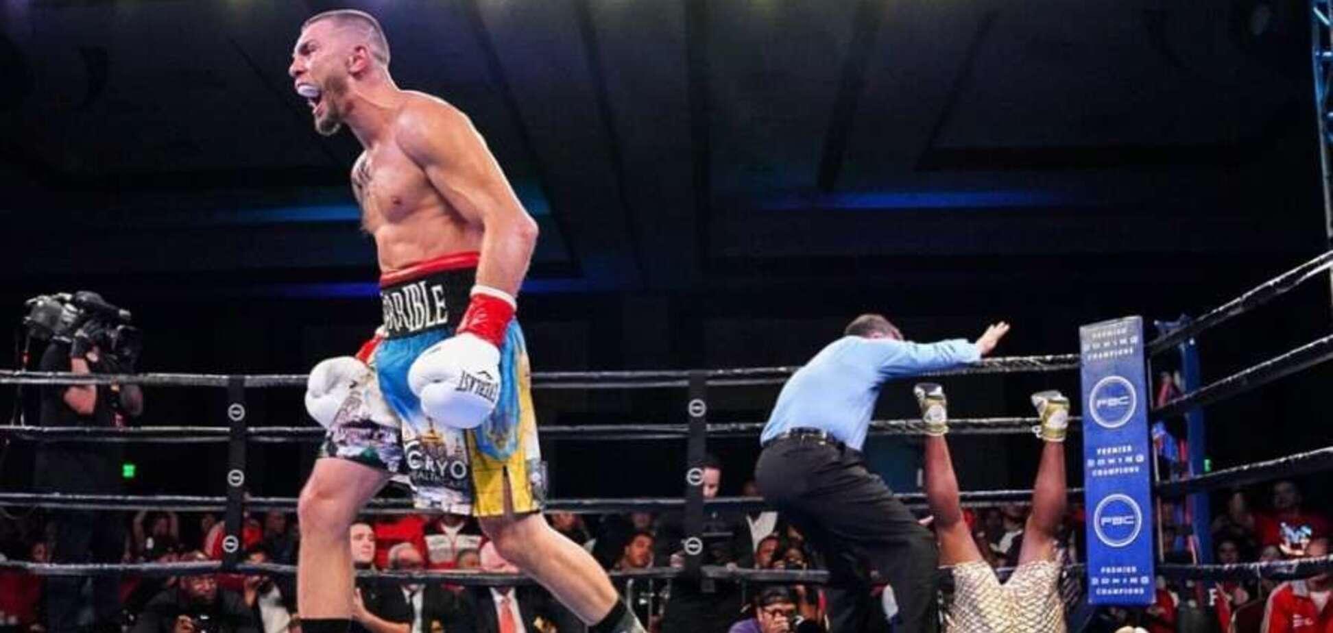 Знаменитий український боксер переміг суворим нокаутом в США